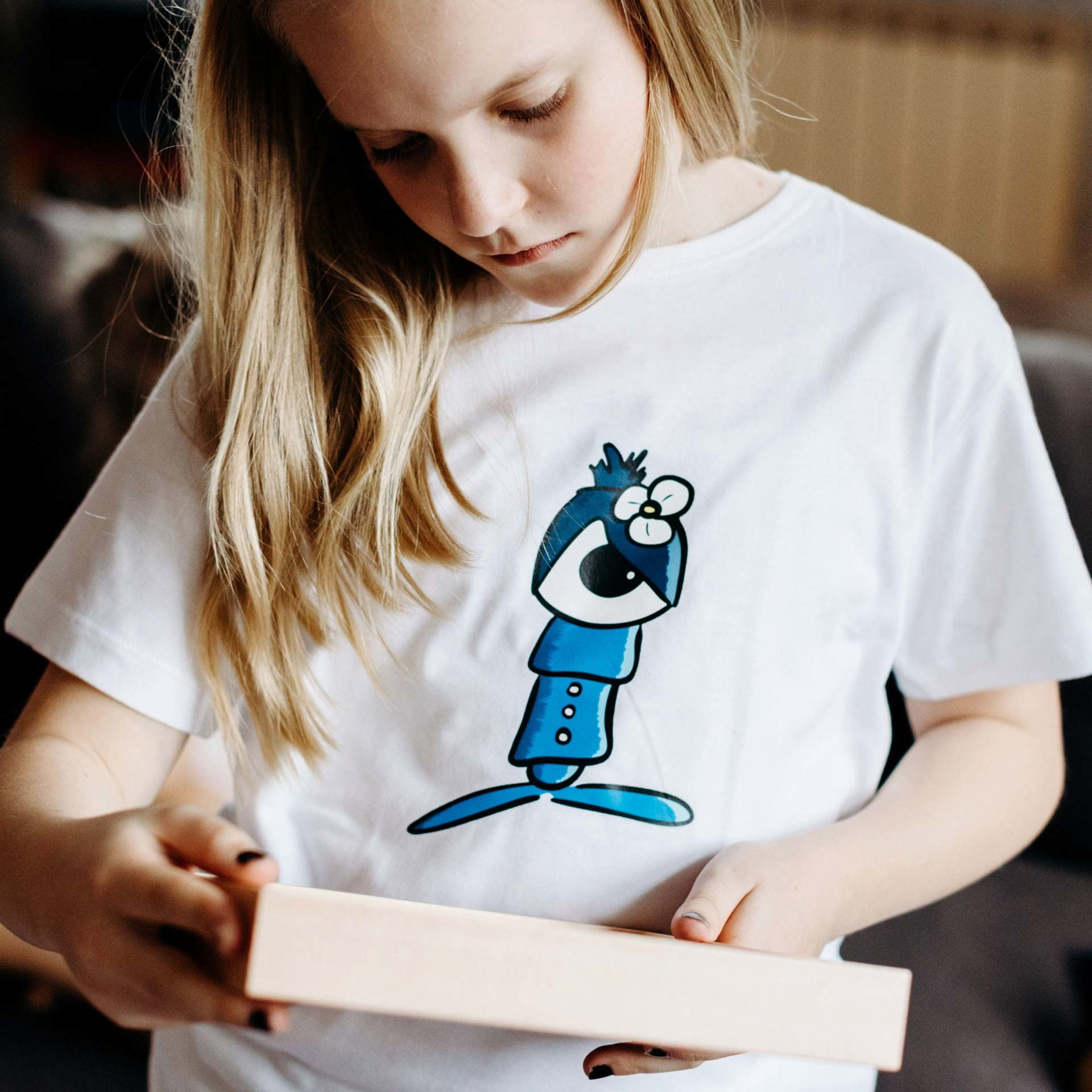 kinder t-shirt driz in Weiss