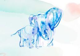 Elefanten familie von Ciao Coyote