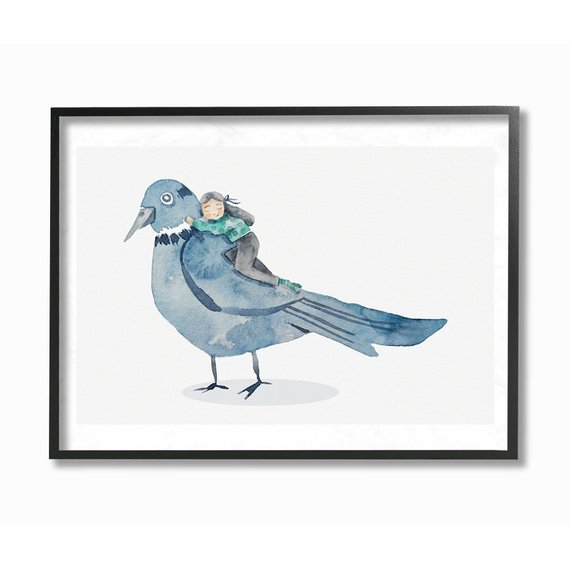 vogel hug luján cordaro poster rahmen