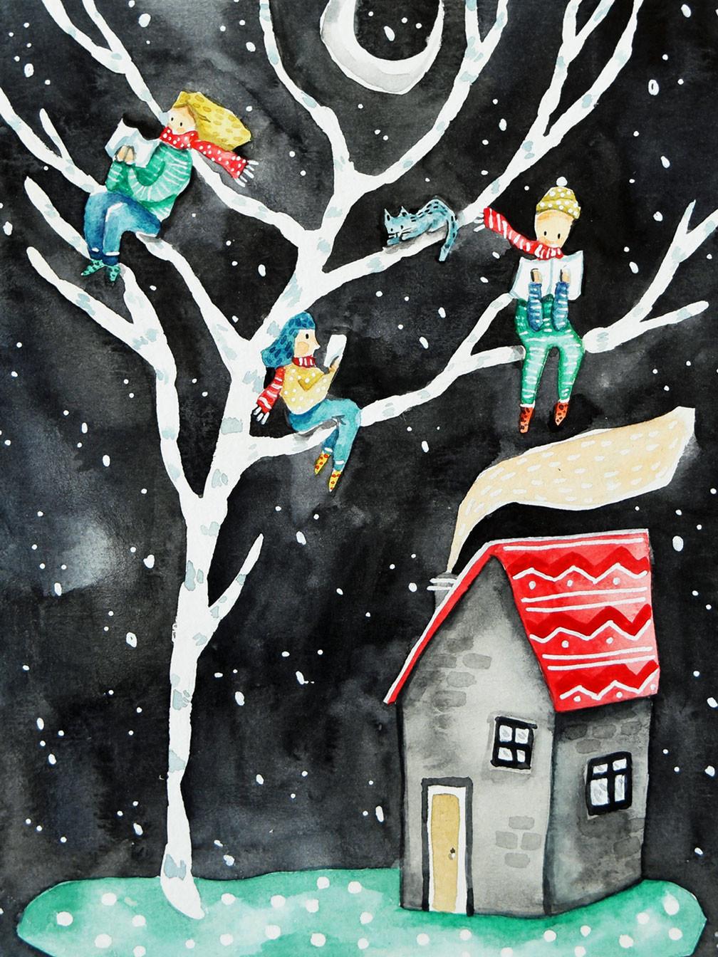 winter lesen luján cordaro poster