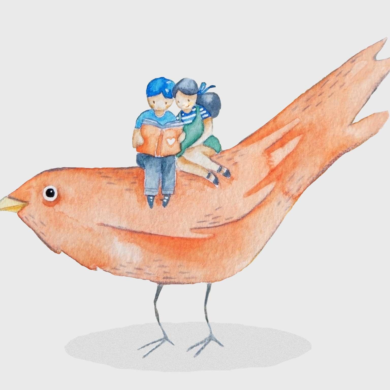 Lujan Cordaro Lesen auf Vogel