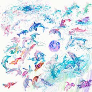 Aqua Poster Splash
