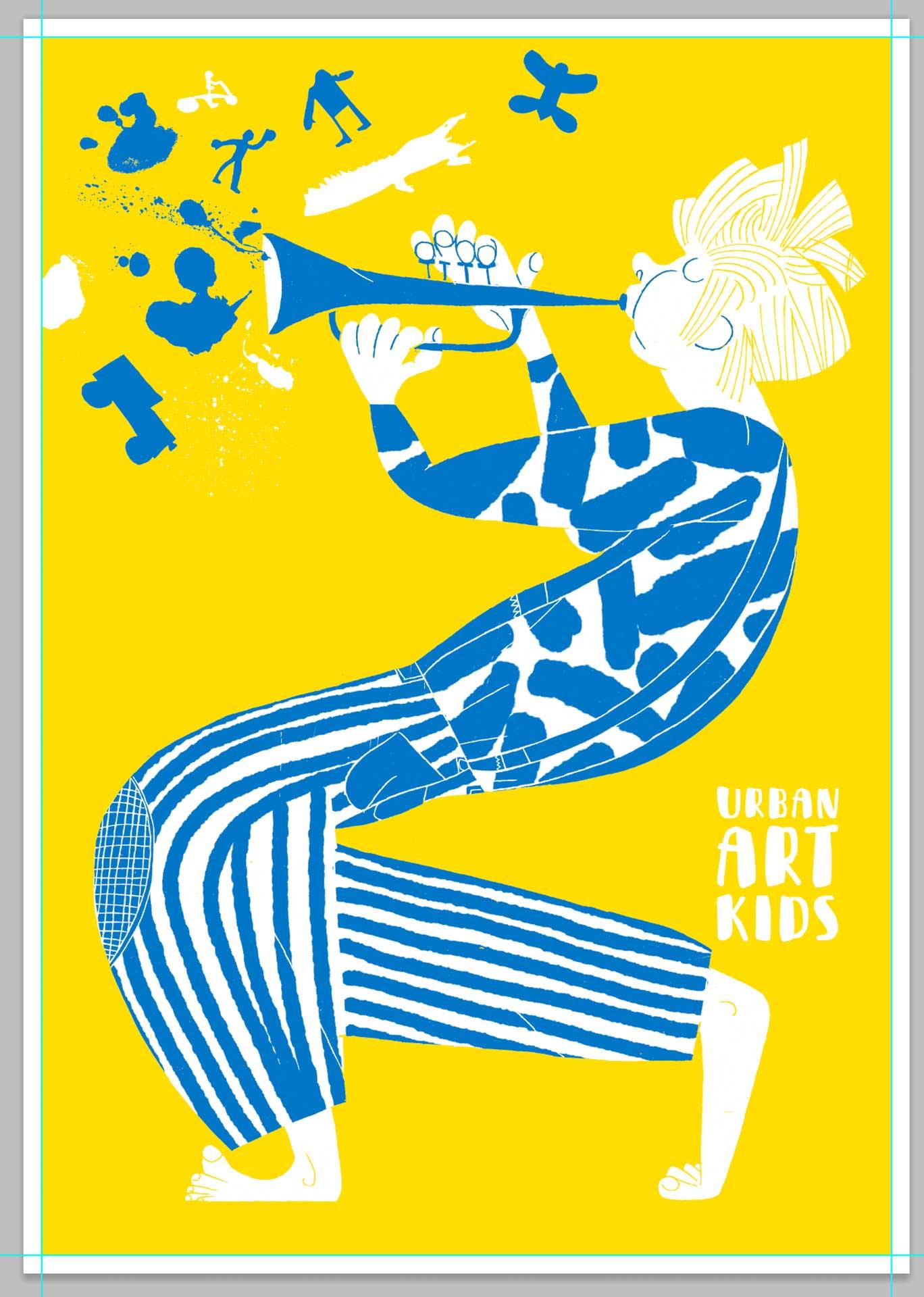Junge mit Trompete von Romy Blümel