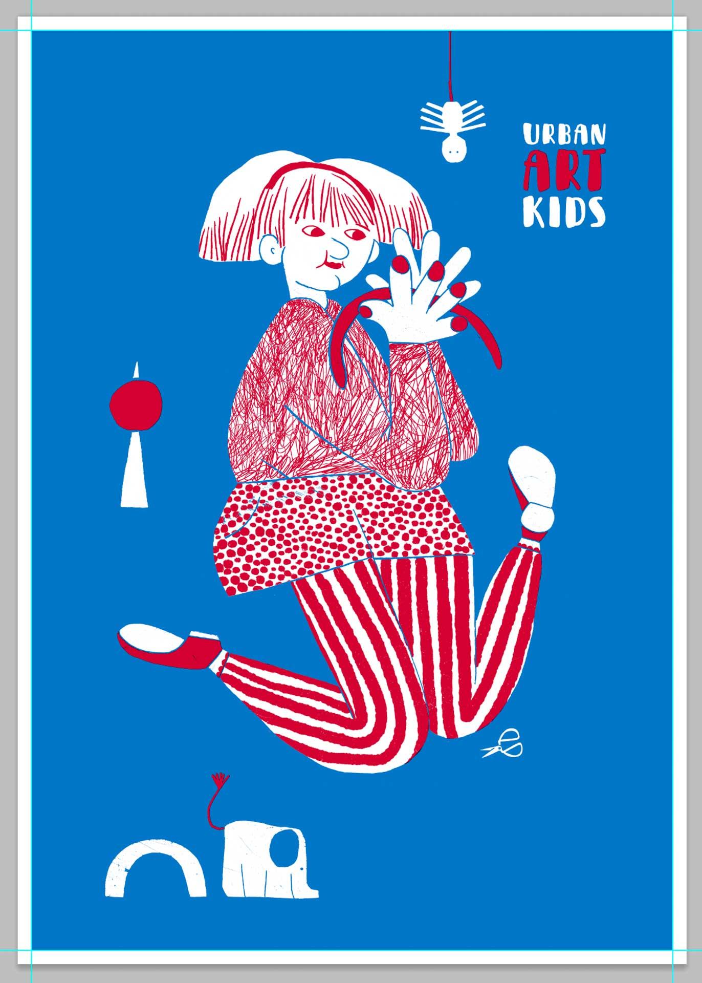 Spielendes Mädchen von Romy Blümel