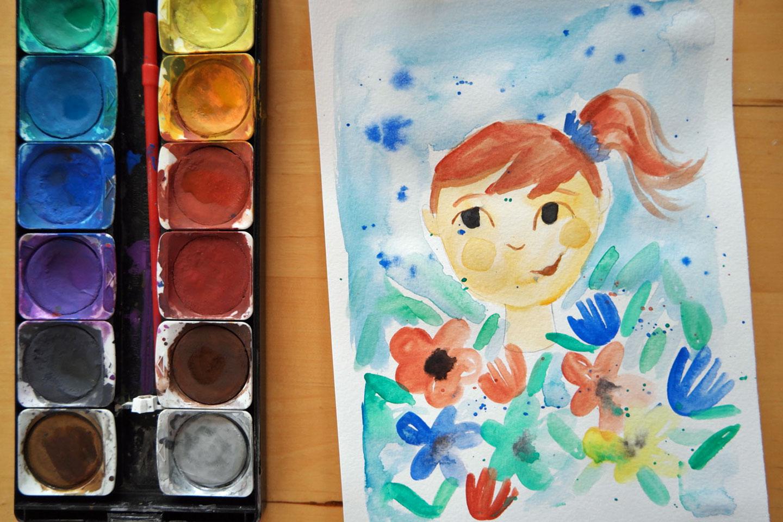 Watercolour Course Character Design