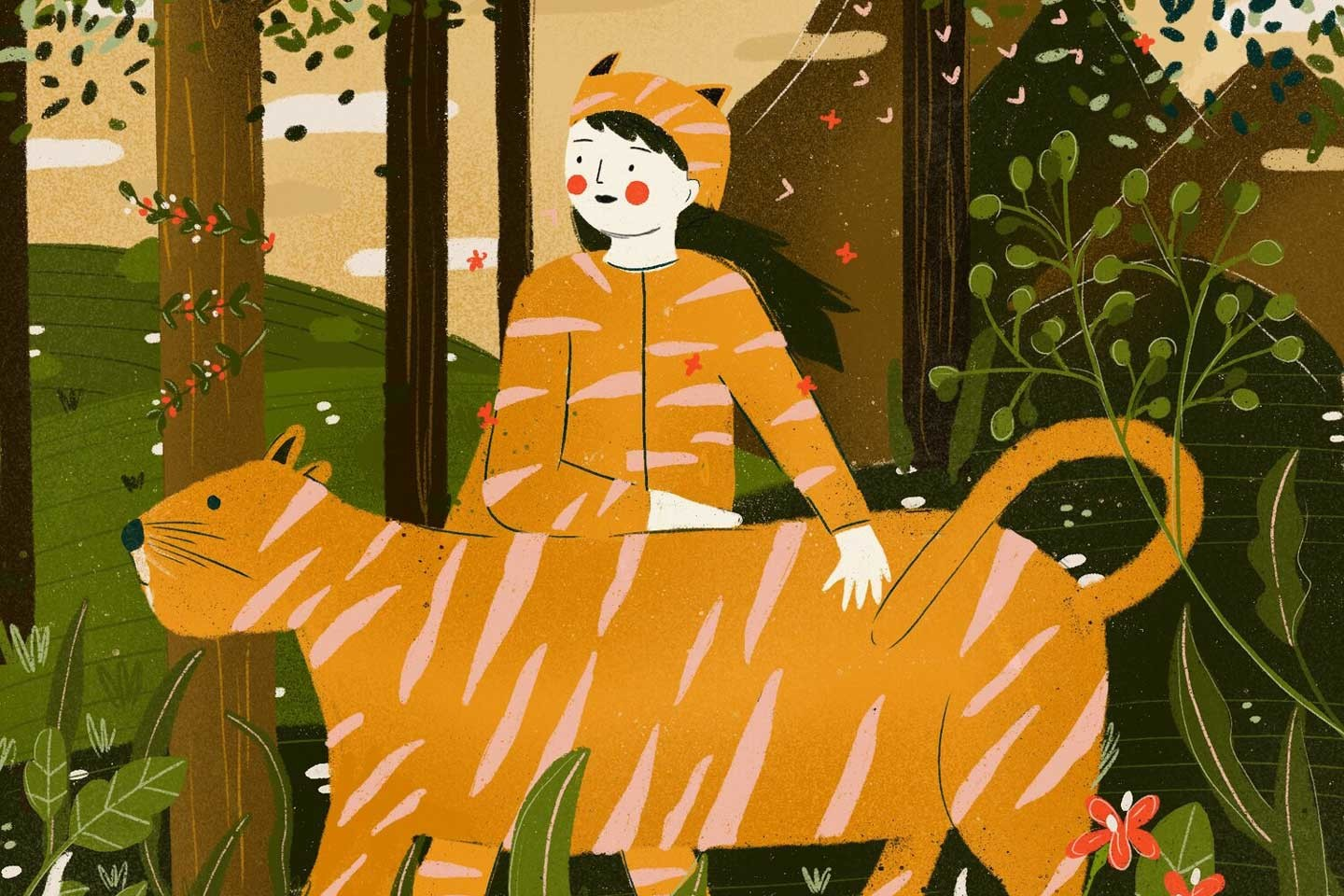 In the forest - pet tigers