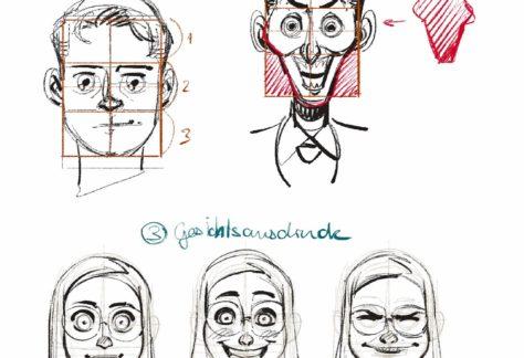 Comic Portrait Charakterdesign